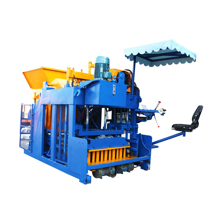 Egg laying type cement concrete block making machine