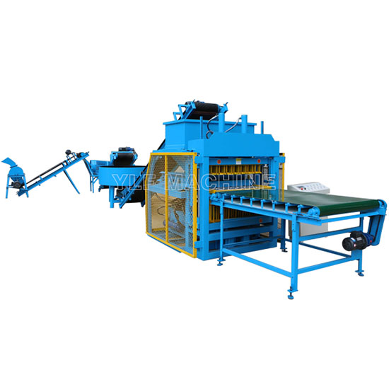 FL7-10 automatic compressed earth brick manufacturing machine