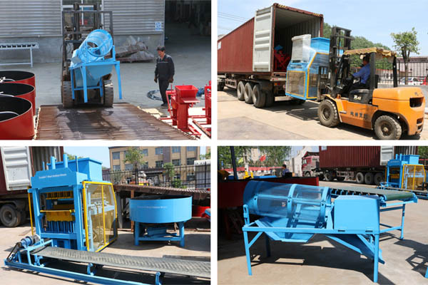 Shipment of interlocking brick machine