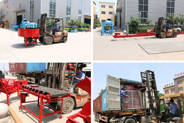 Shipment of automatic brick making machine