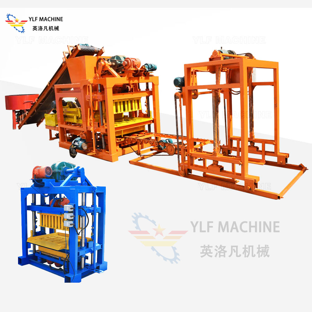 Maintenance and repair of block manufacturing machine