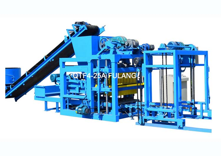 technical improvement of this QTF4-25A semi-automatic concrete block making machine