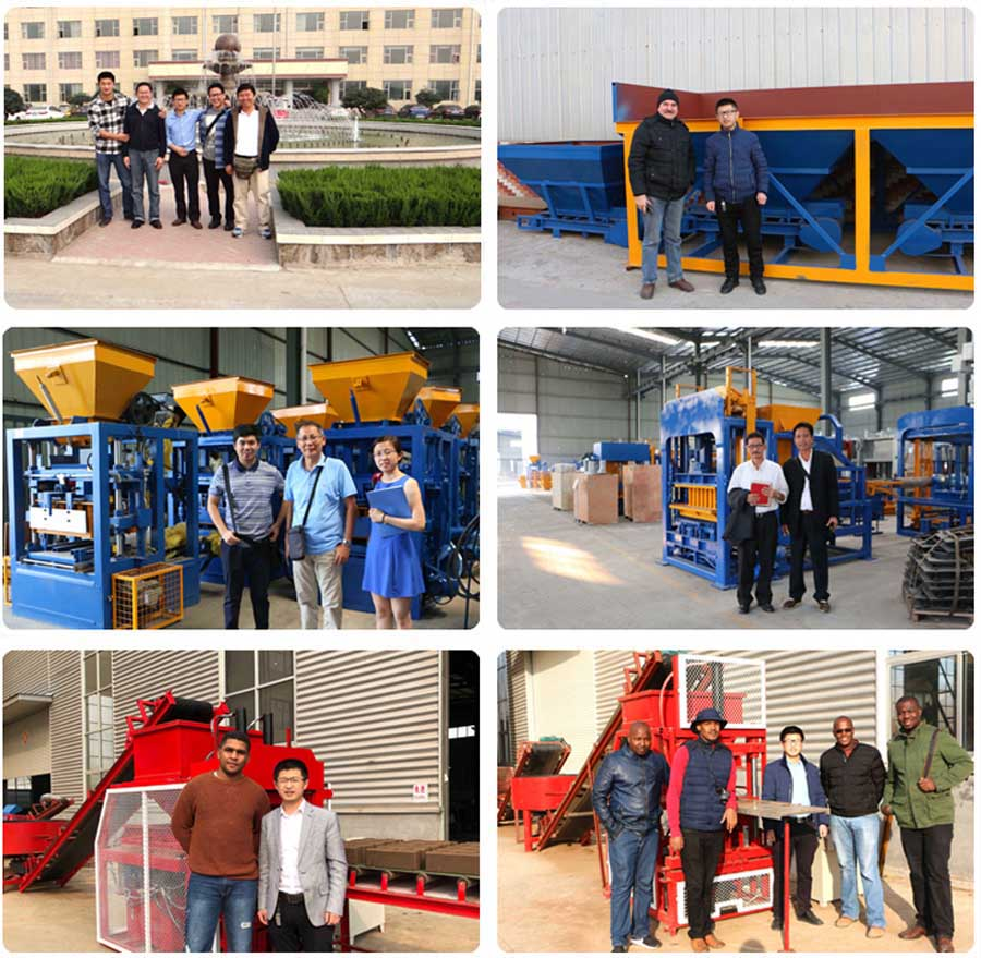 hollow block making machine customers visiting