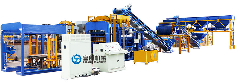 QTF10-15 fully automatic block machine production line